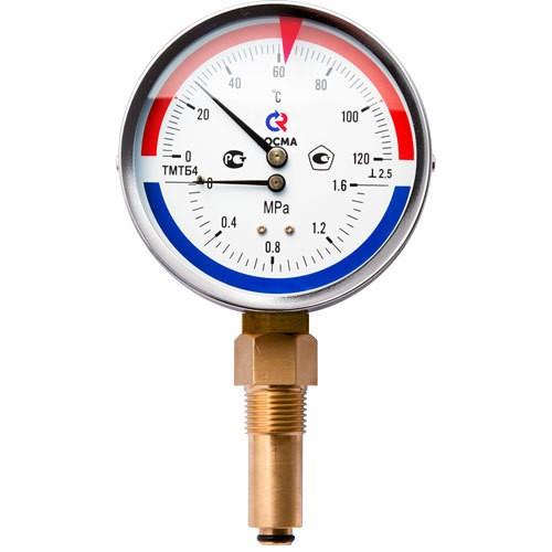 Термоманометр ТМТБ-41Р.2 (0-120)(0-10 кгс/см2)